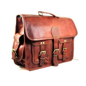 Leather Vintage Messenger Bag Shoulder Men Satchel S Laptop School Briefcase New